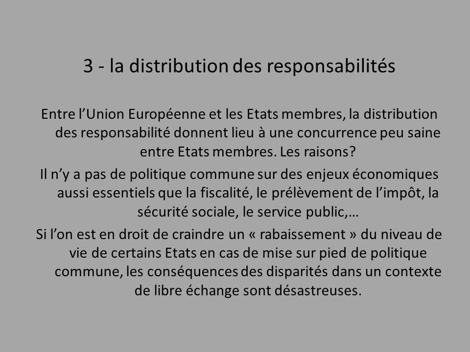 3 - la distribution des responsabilités