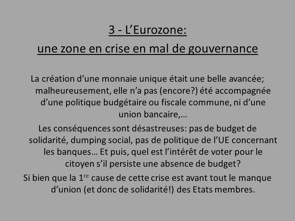 une zone en crise en mal de gouvernance