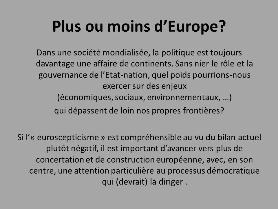 Plus ou moins d'Europe