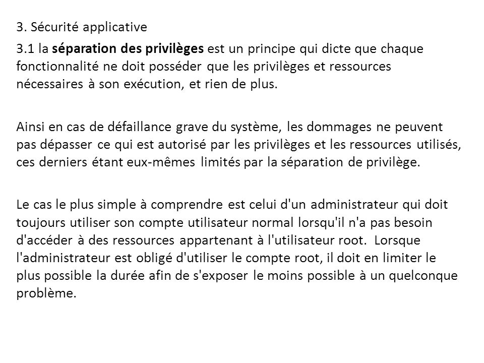 3. Sécurité applicative