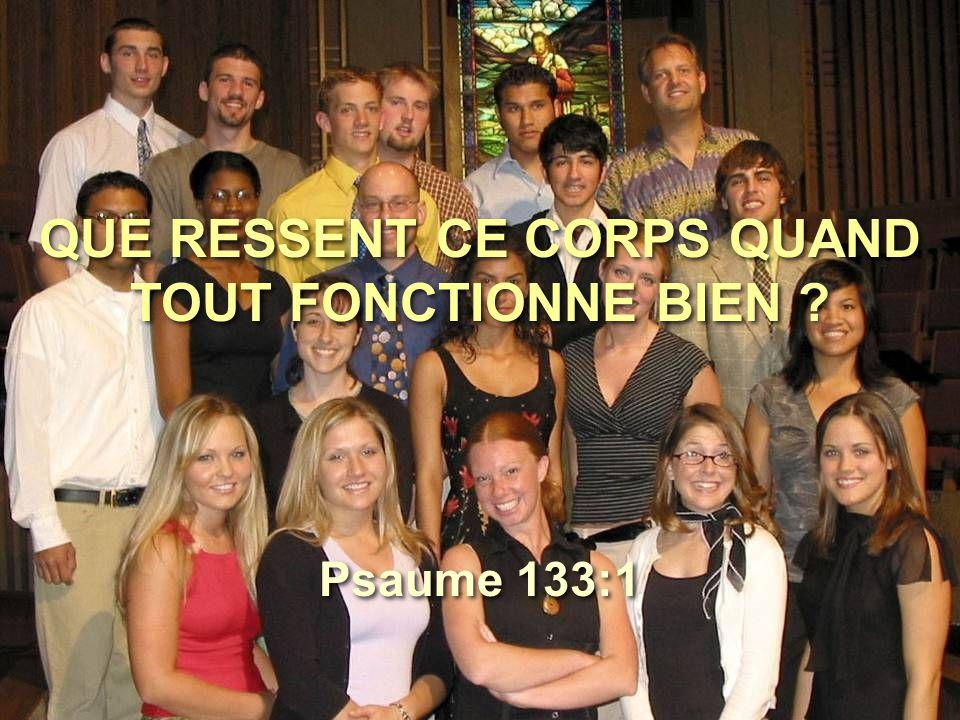 QUE RESSENT CE CORPS QUAND TOUT FONCTIONNE BIEN
