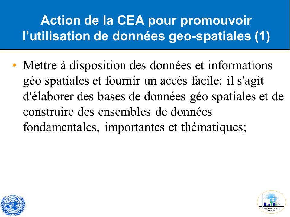 Action de la CEA pour promouvoir l'utilisation de données geo-spatiales (1)