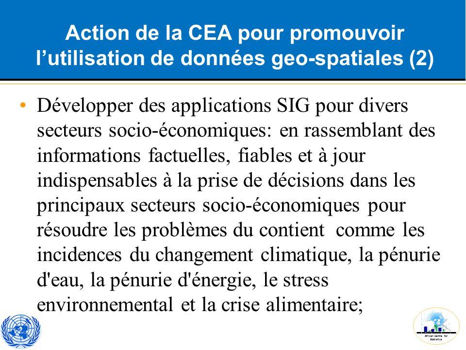 Action de la CEA pour promouvoir l'utilisation de données geo-spatiales (2)