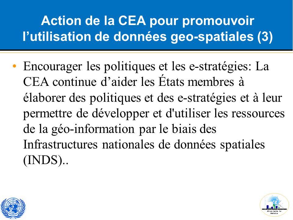 Action de la CEA pour promouvoir l'utilisation de données geo-spatiales (3)