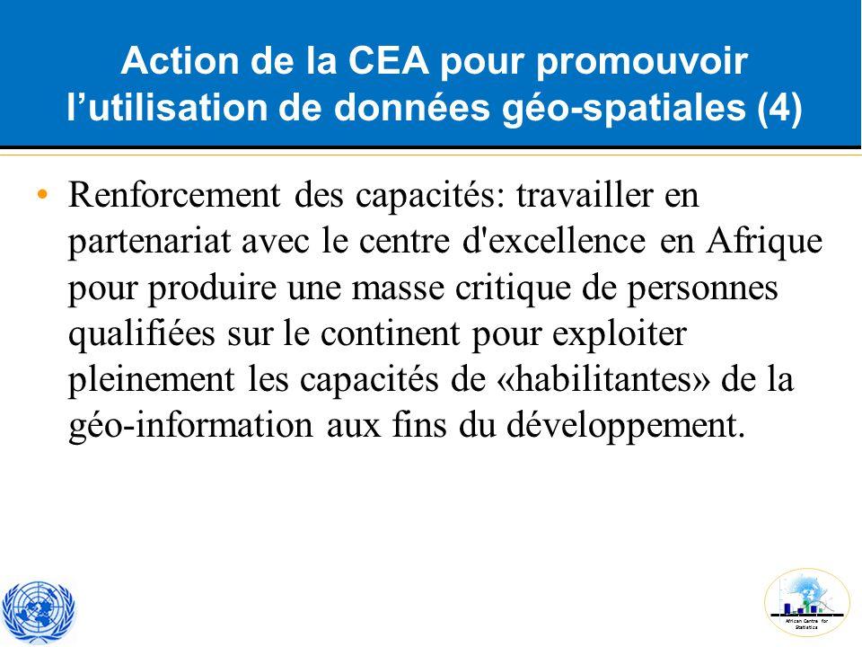 Action de la CEA pour promouvoir l'utilisation de données géo-spatiales (4)