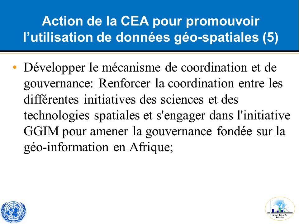 Action de la CEA pour promouvoir l'utilisation de données géo-spatiales (5)