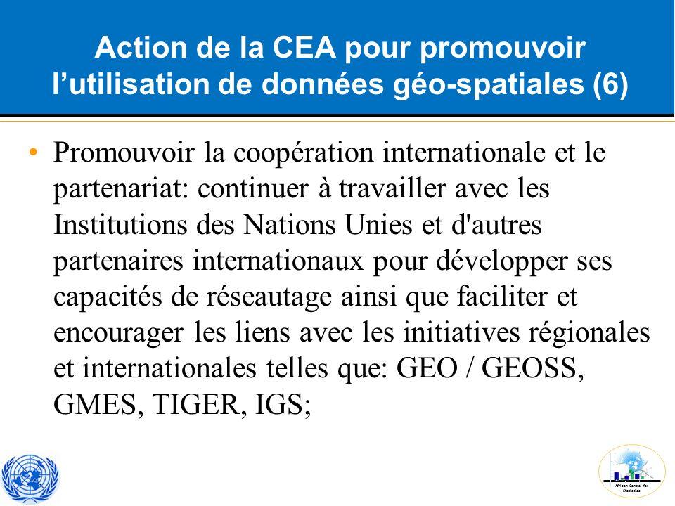 Action de la CEA pour promouvoir l'utilisation de données géo-spatiales (6)