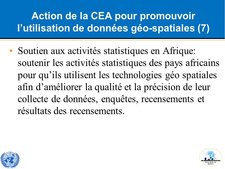 Action de la CEA pour promouvoir l'utilisation de données géo-spatiales (7)