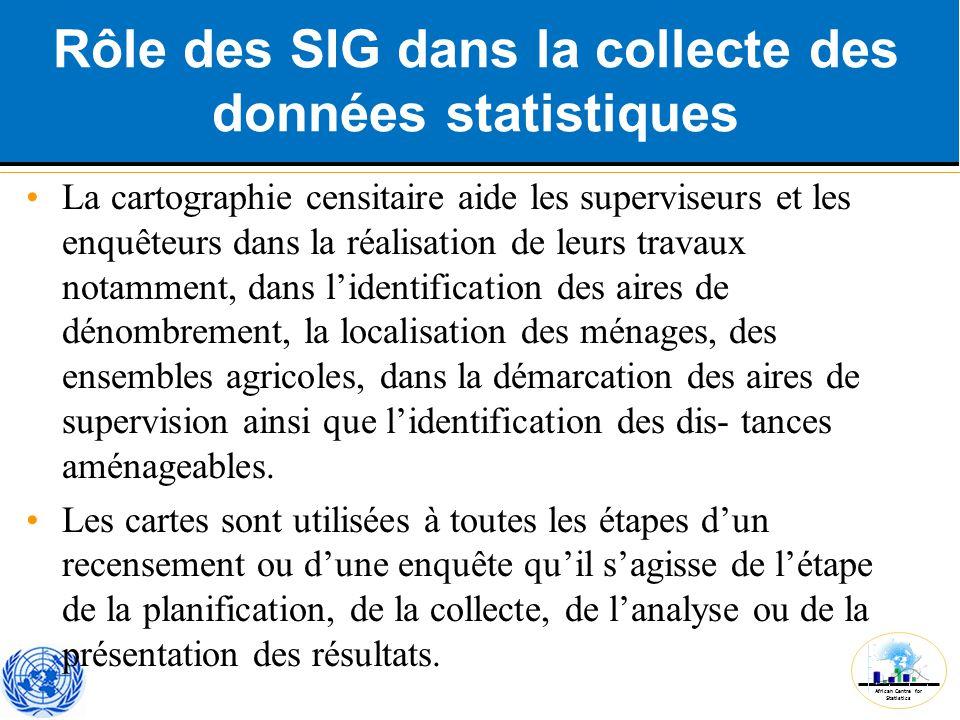 Rôle des SIG dans la collecte des données statistiques