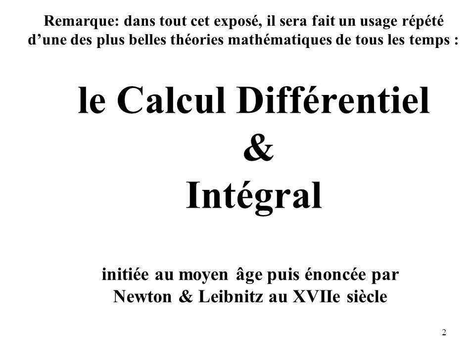 le Calcul Différentiel & Intégral