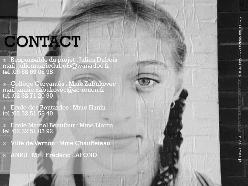 CONTACT Responsable du projet : Julien Dubois