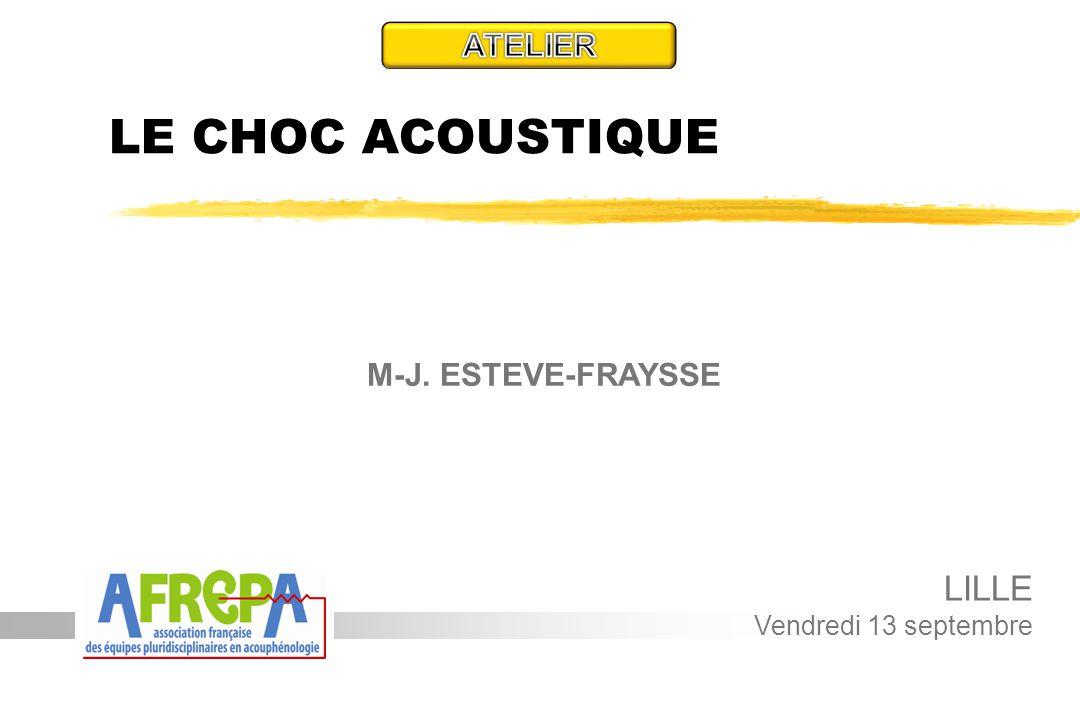 LE CHOC ACOUSTIQUE LILLE ATELIER M-J. ESTEVE-FRAYSSE