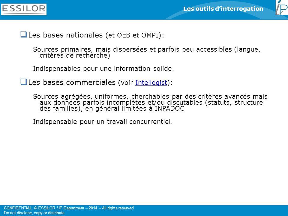 Les bases nationales (et OEB et OMPI):