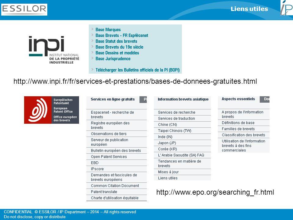 Liens utiles http://www.inpi.fr/fr/services-et-prestations/bases-de-donnees-gratuites.html.