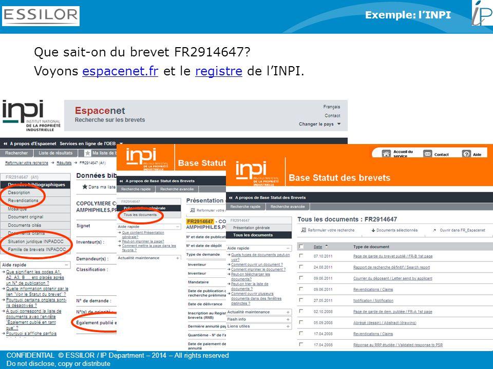 Que sait-on du brevet FR2914647