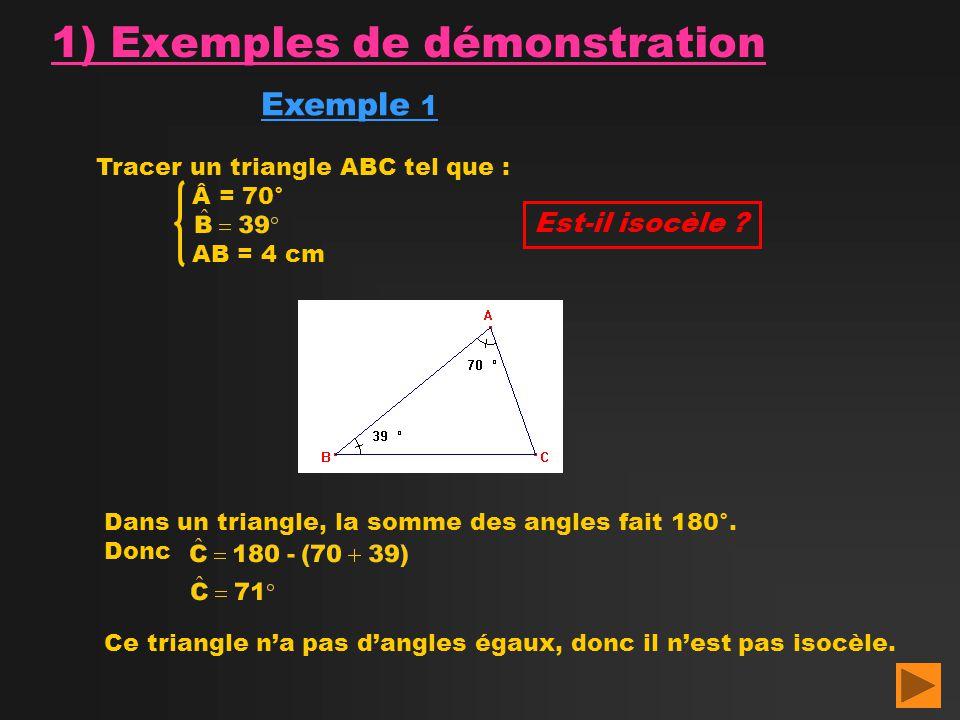1) Exemples de démonstration