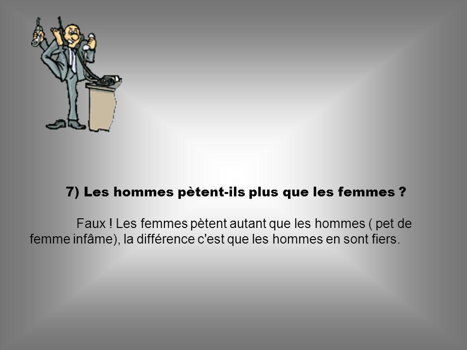 7) Les hommes pètent-ils plus que les femmes