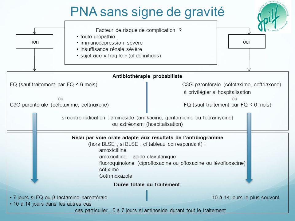 PNA sans signe de gravité