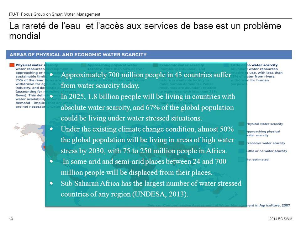 La rareté de l'eau et l'accès aux services de base est un problème mondial