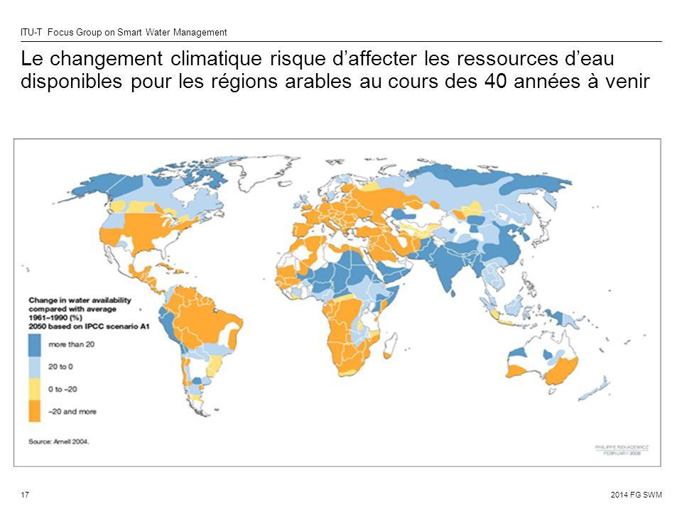Le changement climatique risque d'affecter les ressources d'eau disponibles pour les régions arables au cours des 40 années à venir