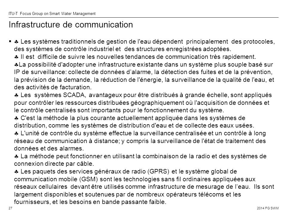 Infrastructure de communication