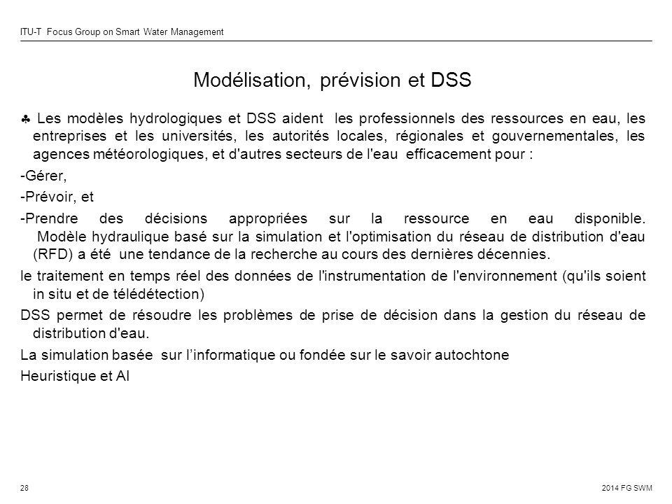 Modélisation, prévision et DSS
