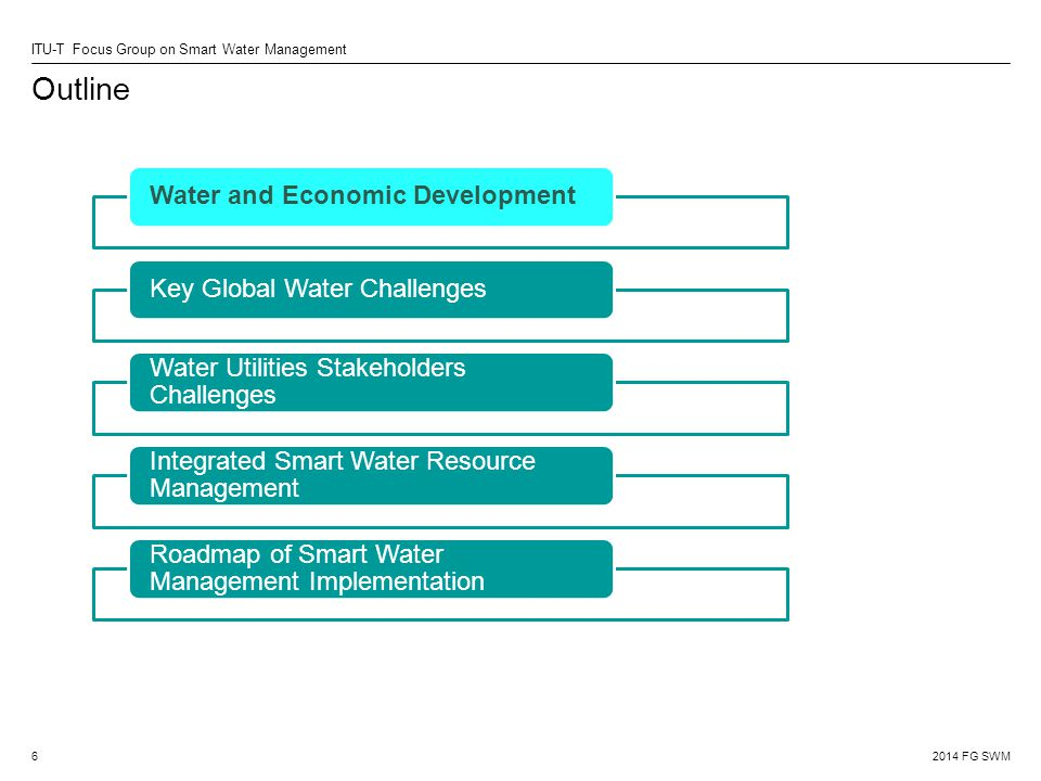 Outline Water and Economic Development Key Global Water Challenges