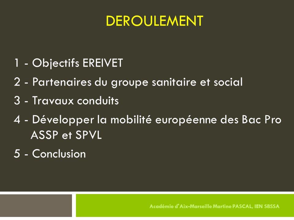 DEROULEMENT 1 - Objectifs EREIVET