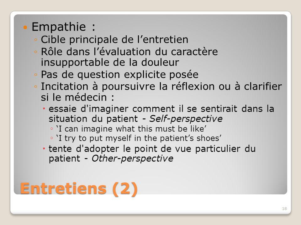 Entretiens (2) Empathie : Cible principale de l'entretien