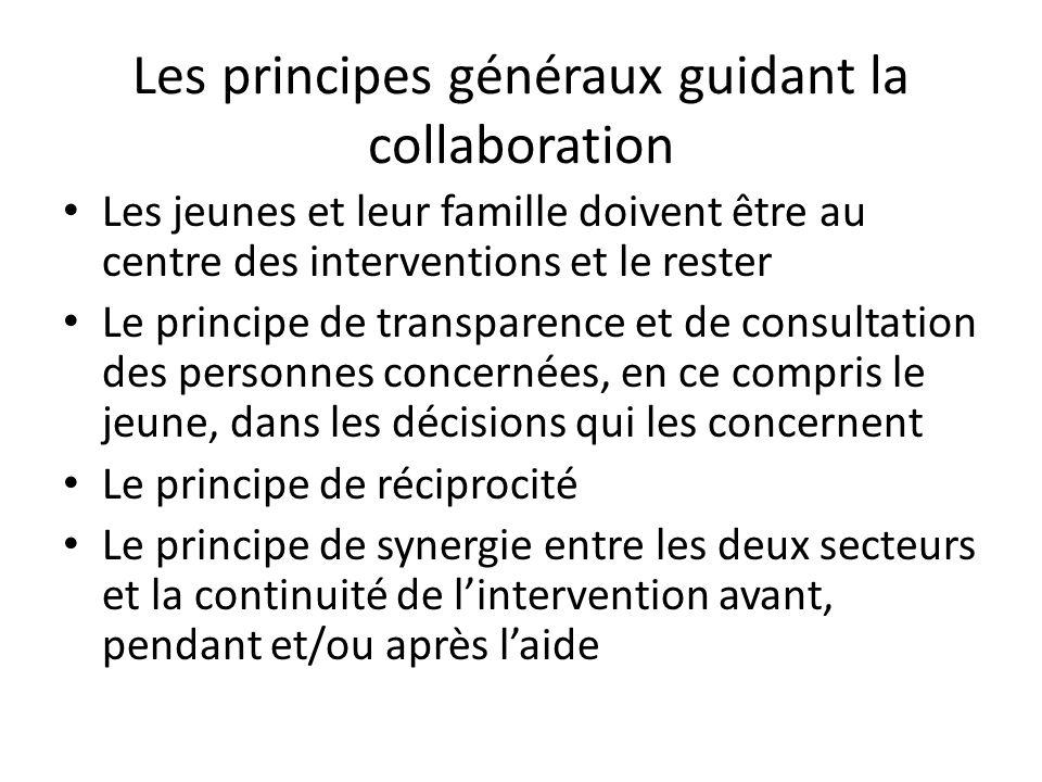 Les principes généraux guidant la collaboration