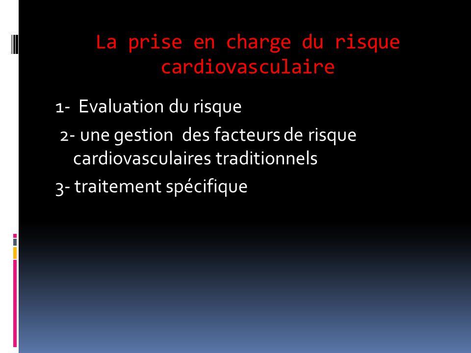 La prise en charge du risque cardiovasculaire