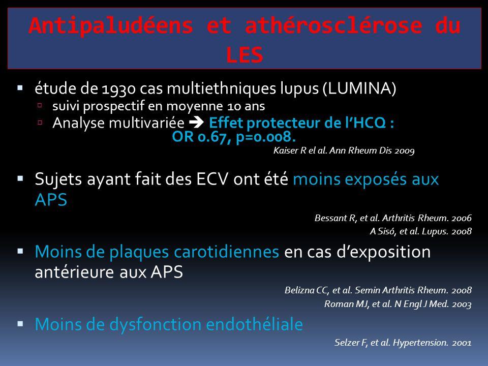 Antipaludéens et athérosclérose du LES