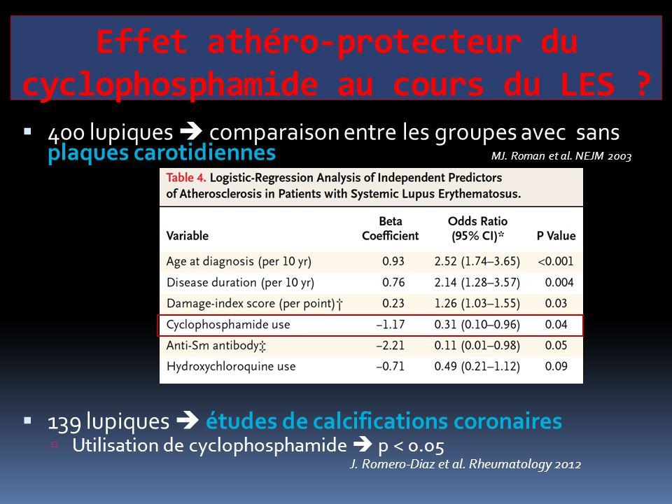 Effet athéro-protecteur du cyclophosphamide au cours du LES