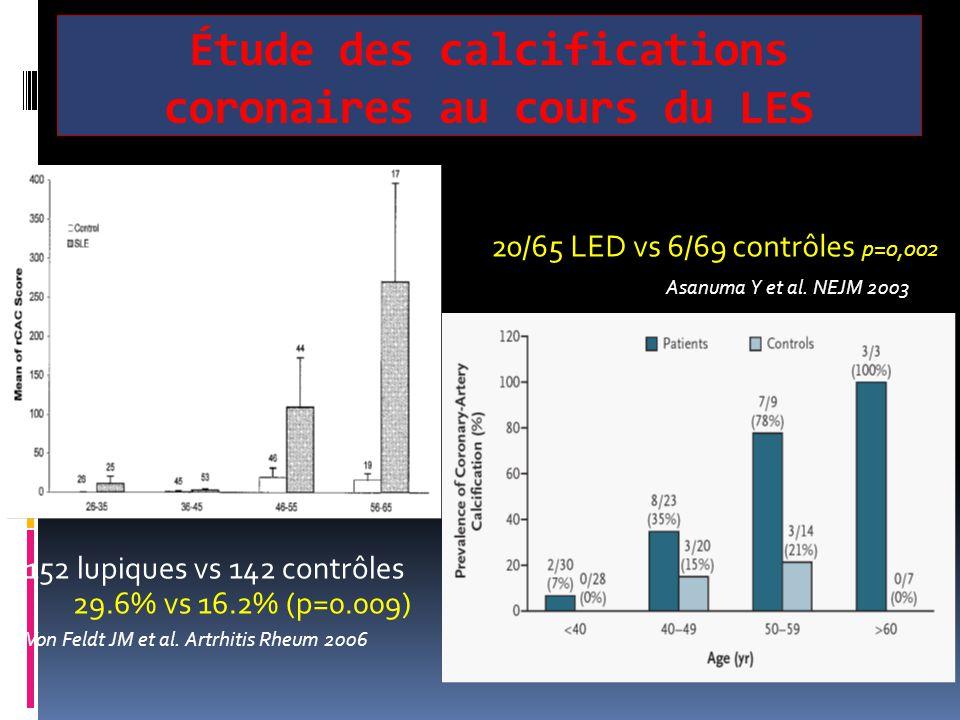Étude des calcifications coronaires au cours du LES
