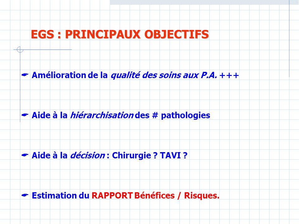 EGS : PRINCIPAUX OBJECTIFS
