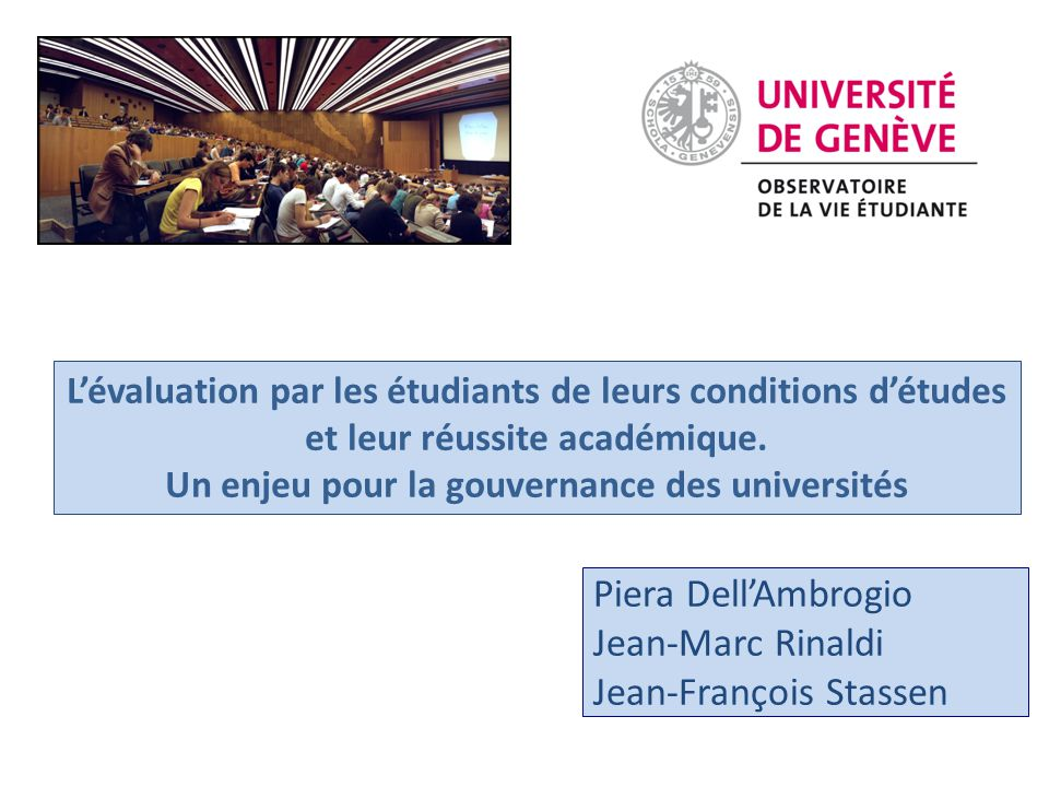 Un enjeu pour la gouvernance des universités
