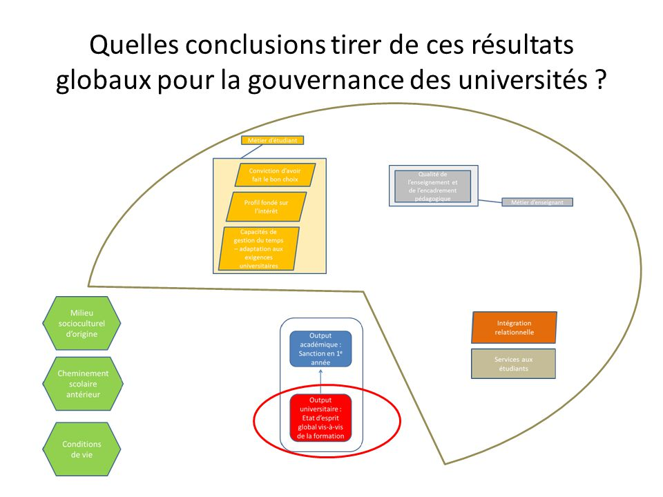 Quelles conclusions tirer de ces résultats globaux pour la gouvernance des universités