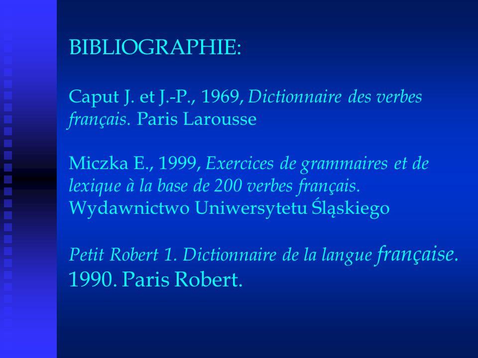 BIBLIOGRAPHIE: Caput J. et J. -P