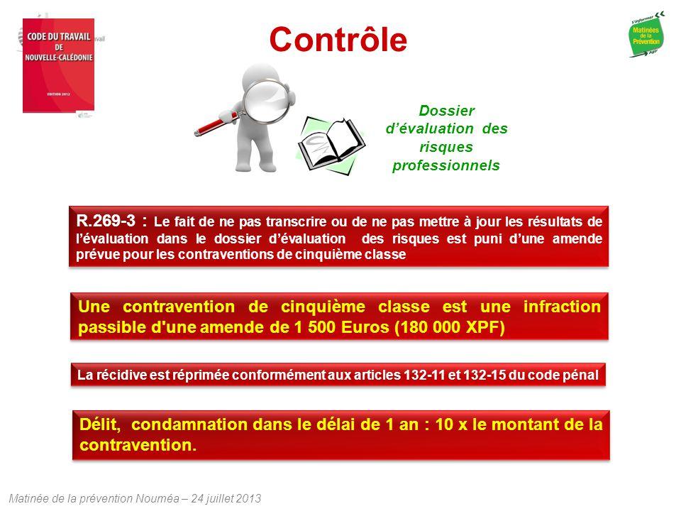 Dossier d'évaluation des risques professionnels