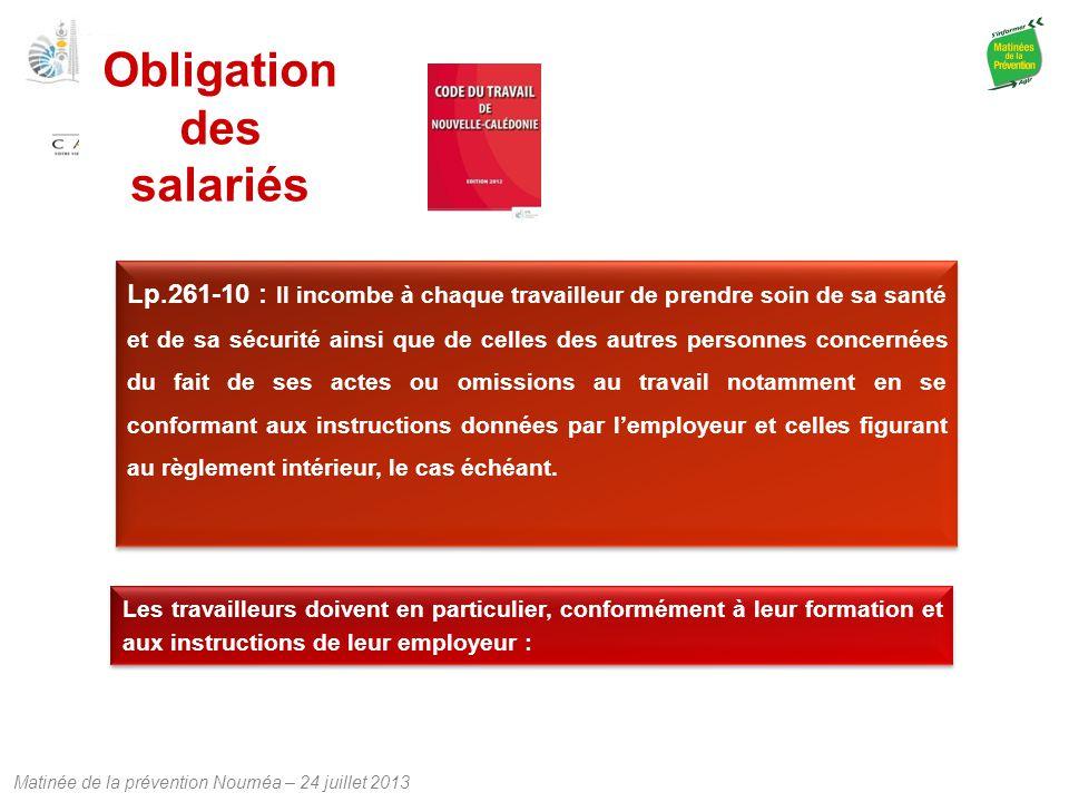 Obligation des salariés