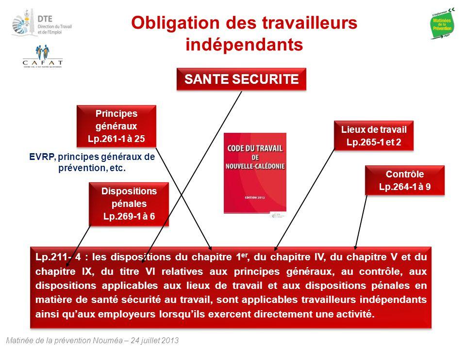 Obligation des travailleurs indépendants