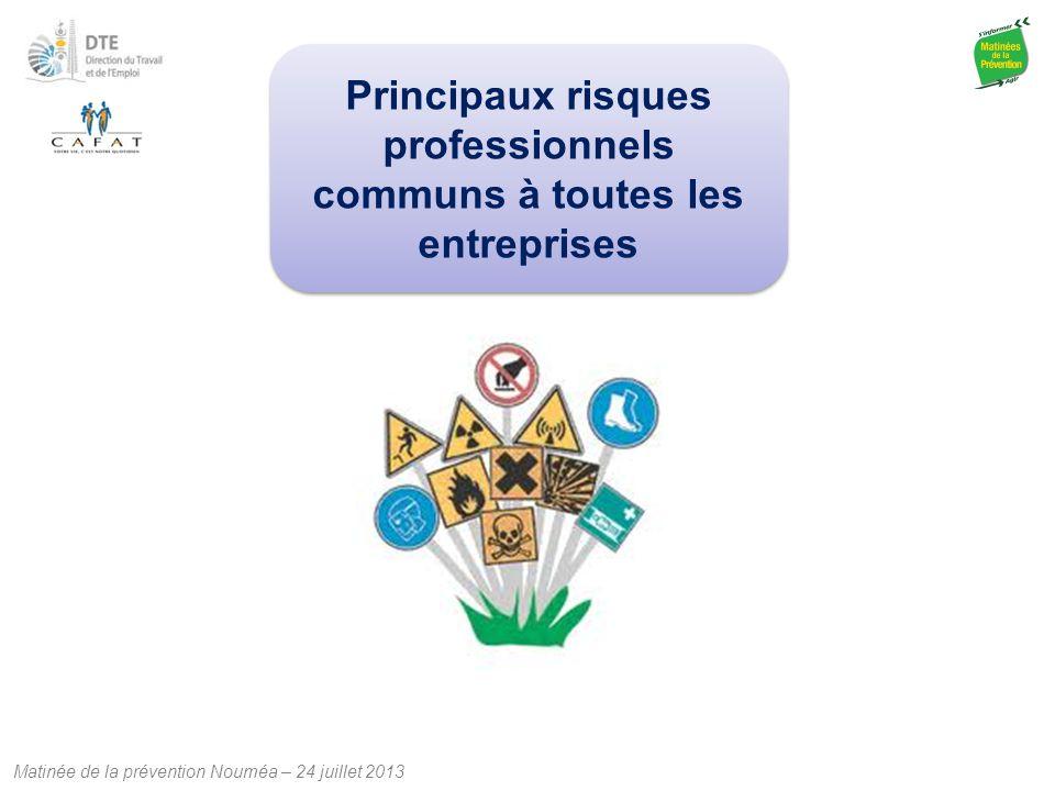 Principaux risques professionnels communs à toutes les entreprises