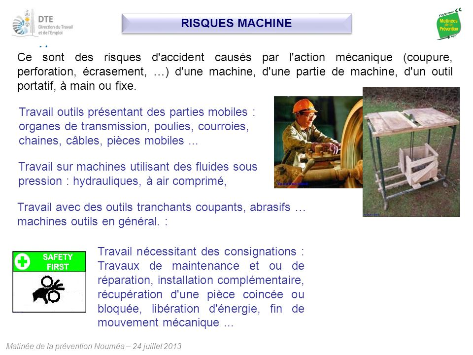 RISQUES MACHINE