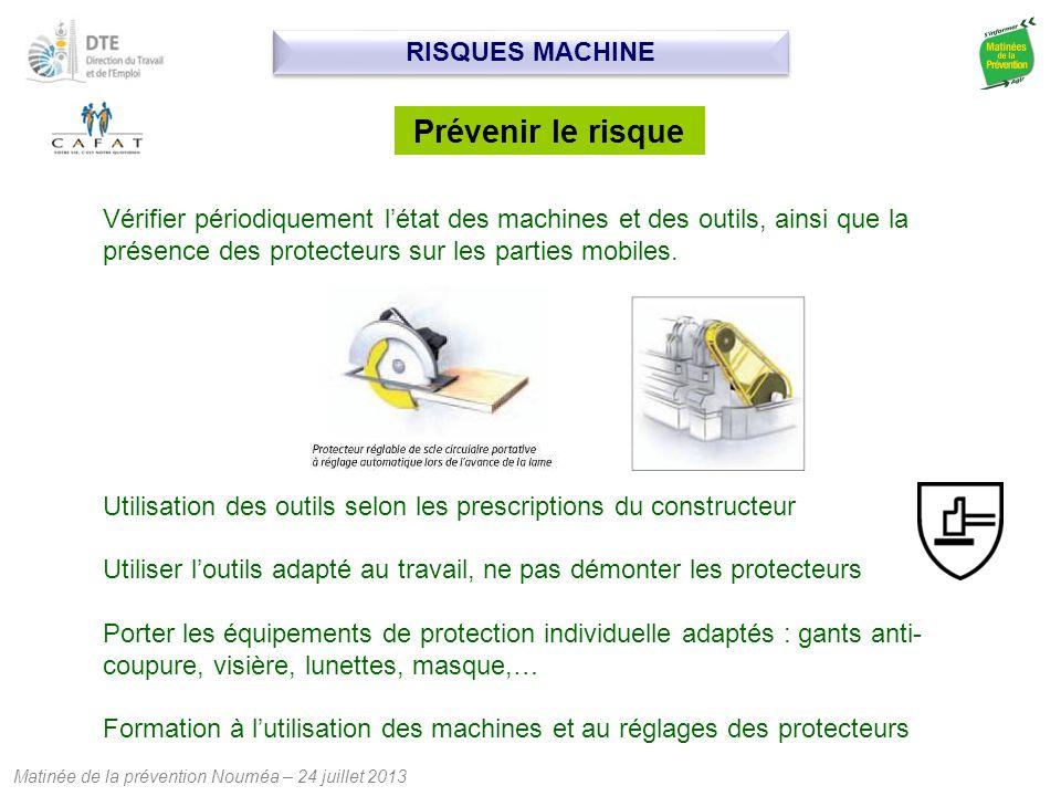 Prévenir le risque RISQUES MACHINE