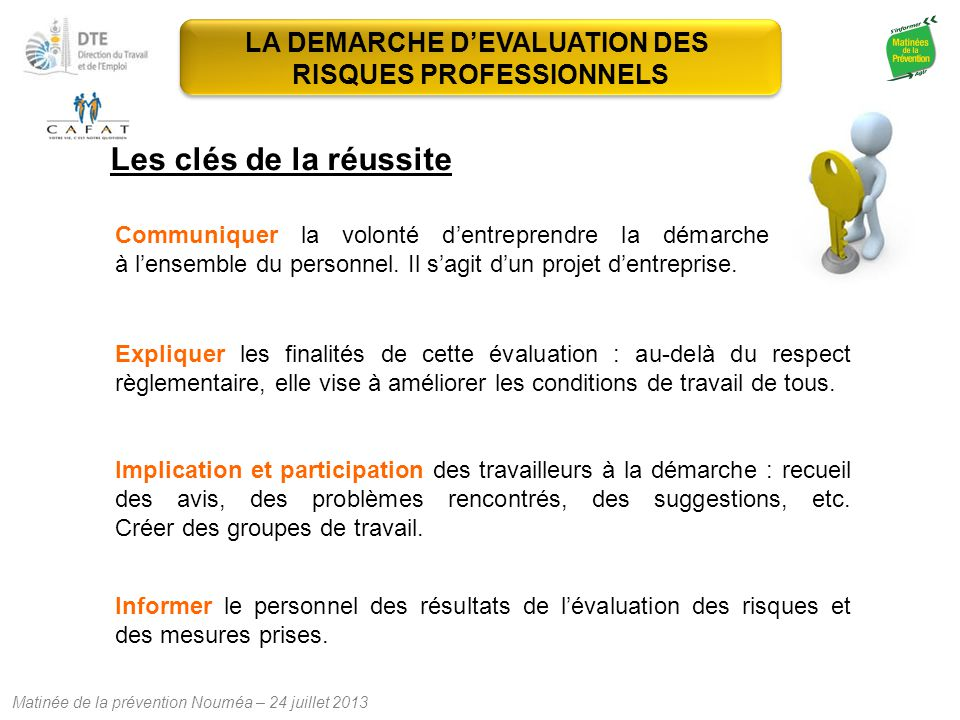 LA DEMARCHE D'EVALUATION DES RISQUES PROFESSIONNELS