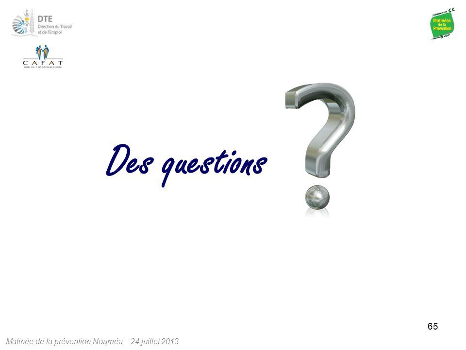 Des questions 65