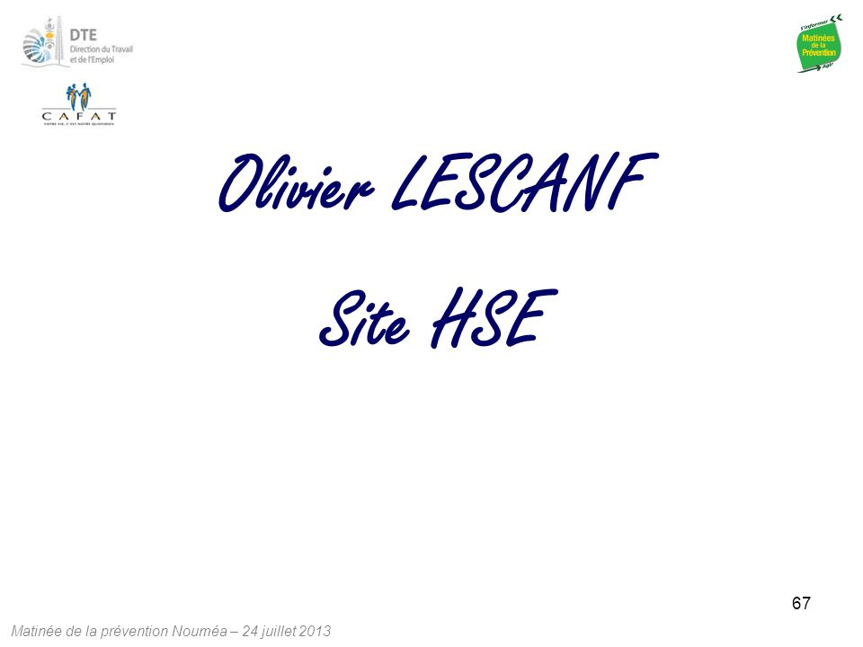 Olivier LESCANF Site HSE