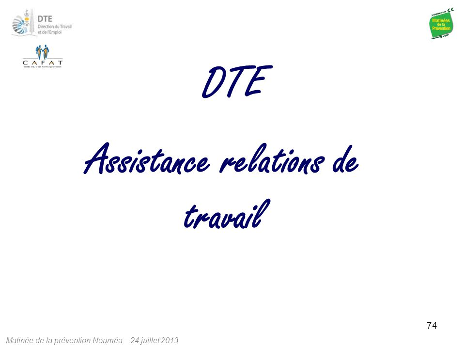 Assistance relations de travail