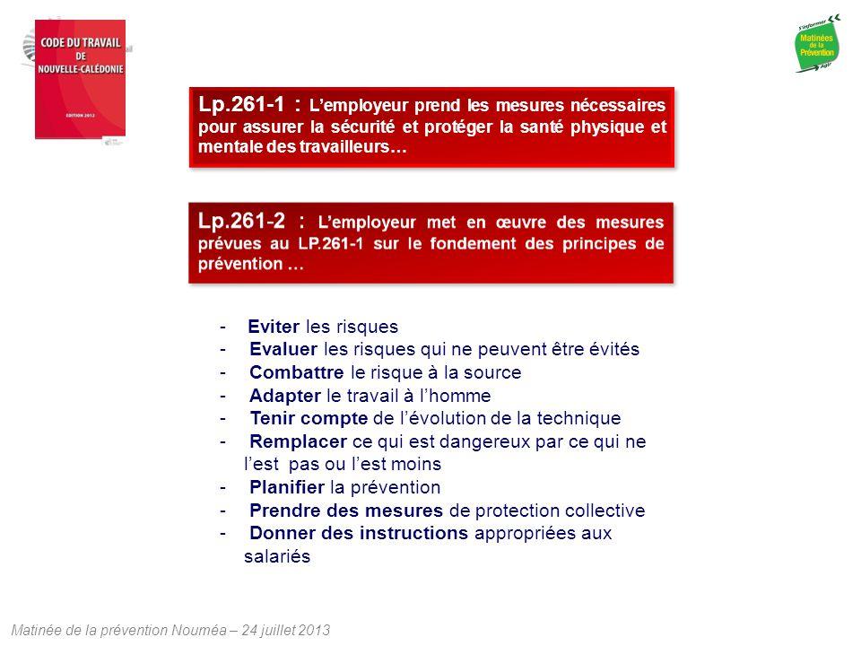 Lp.261-1 : L'employeur prend les mesures nécessaires pour assurer la sécurité et protéger la santé physique et mentale des travailleurs…