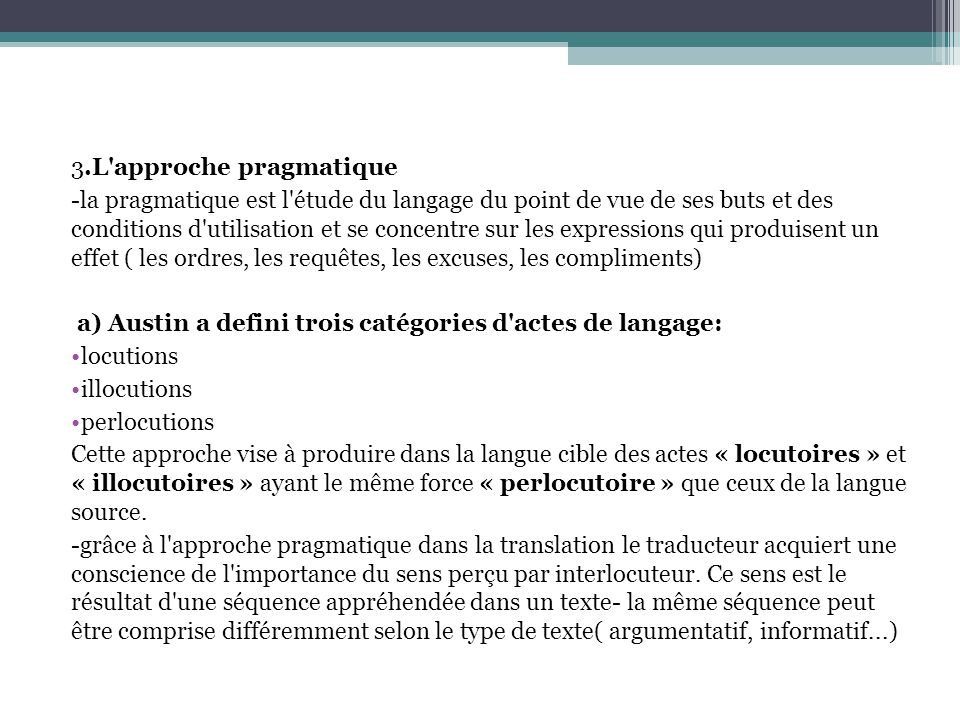 3.L approche pragmatique